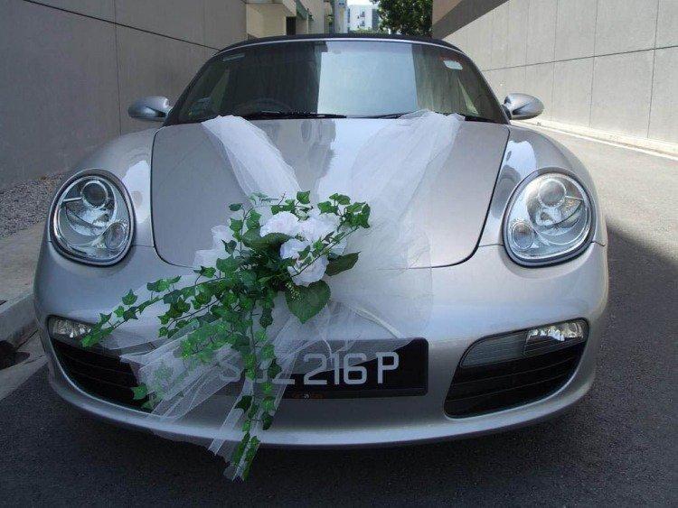 Deco Tulle Voiture Mariage - Location Auto Clermont destiné Deco Voiture Mariage Invités
