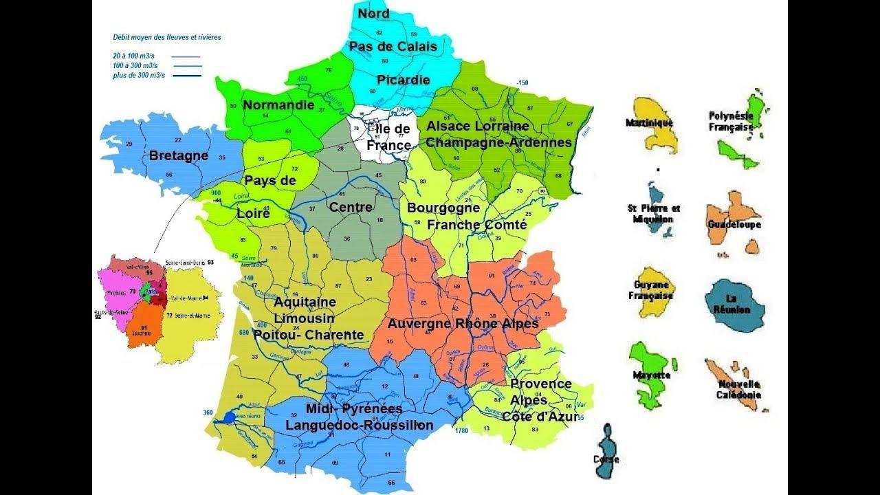 Découpage Administratif De La France - Les Departements De pour Le Découpage Administratif De La France Ce2