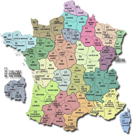Départements Et Préfectures pour Département Et Préfecture