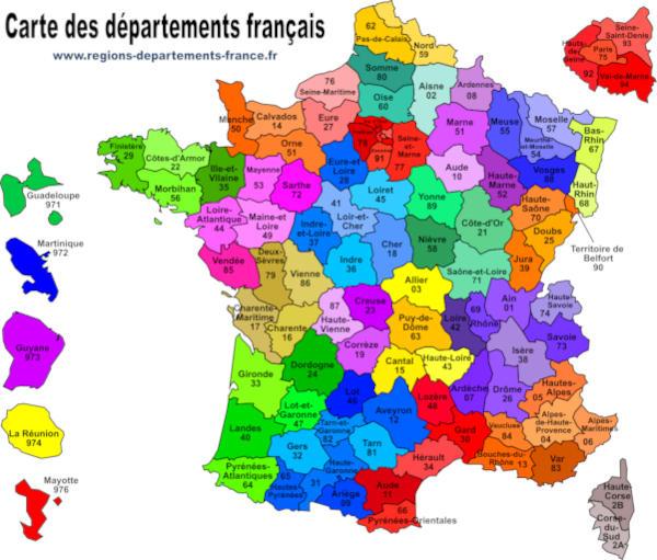Départements Français : Liste, Carte, Région, Préfecture pour Liste Departement Francais Pdf