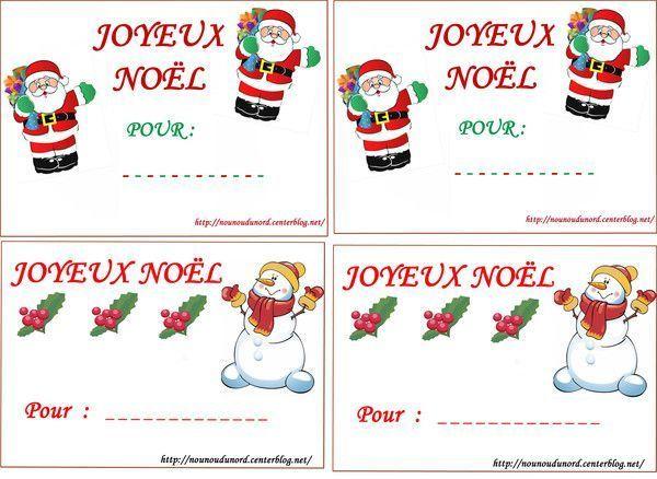 Des Étiquettes À Imprimer Pour Vos Cadeaux De Noël destiné Etiquette Noel À Imprimer