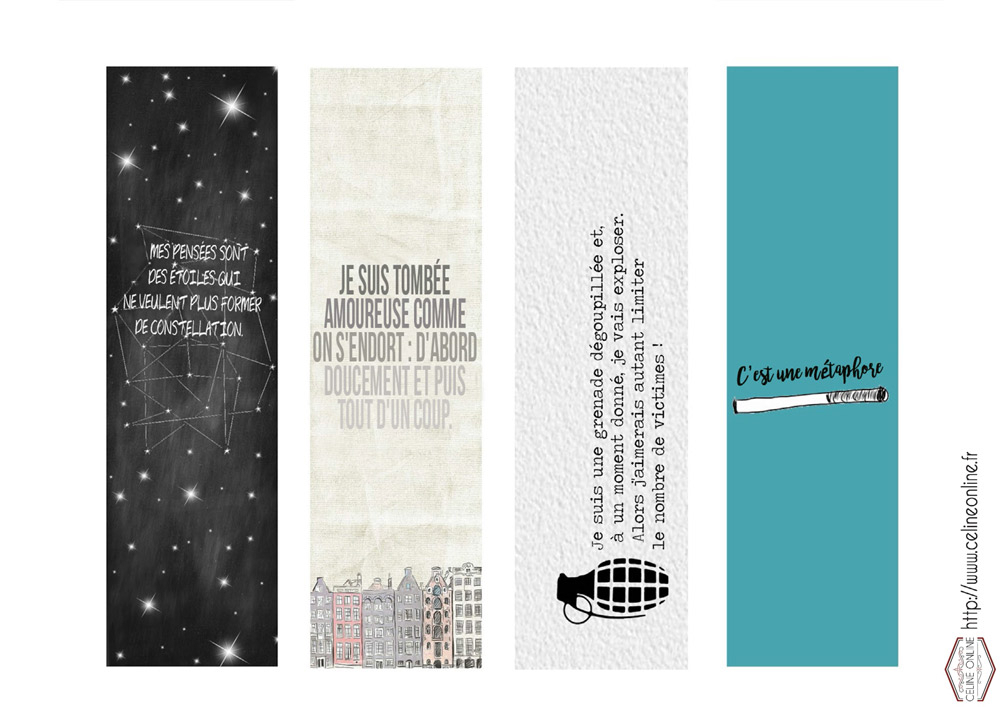 Des Marque-Pages Nos Étoiles Contraires, Ça Vous Dit concernant Marque Page Gratuit À Imprimer