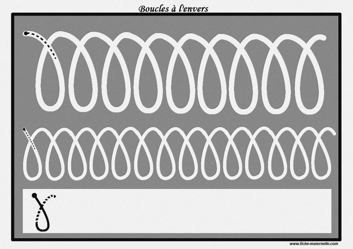 Des Pistes Graphiques À Plastifier Pour Apprendre À Écrire dedans Graphisme Gs Boucles