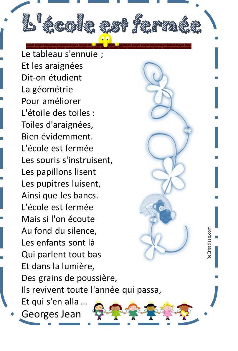 Des Poesies Pour La Rentree !   Poésie Rentrée, Toile D tout La Rentrée Poésie