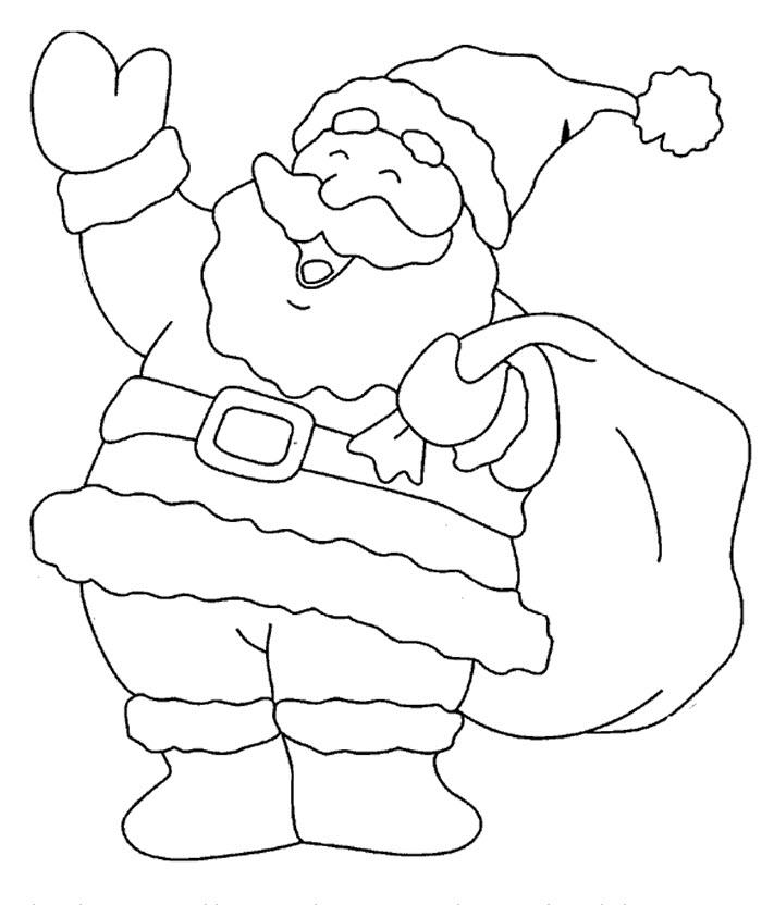Dessin A Colorier Du Pere Noel encequiconcerne Coloriage De Pere Noel A Imprimer Gratuitement