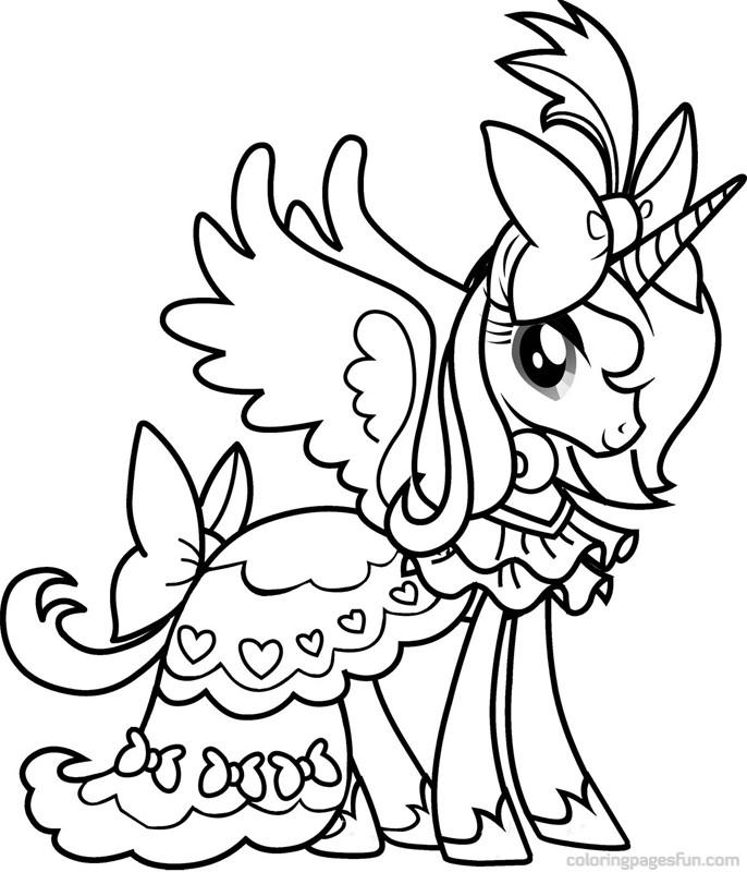 Dessin À Colorier My Little Pony Cadence concernant Coloriage De My Little Pony Princesse Cadance