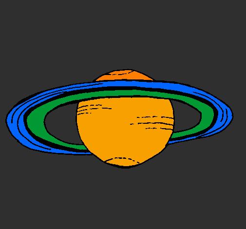 Dessin De Saturne Colorie Par Membre Non Inscrit Le 19 De serapportantà Saturne Dessin