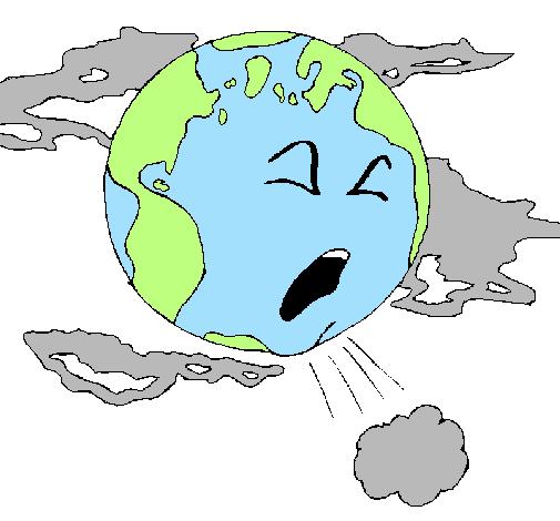 Dessin De Terre Malade Colorie Par Membre Non Inscrit Le à Coloriage Environnement