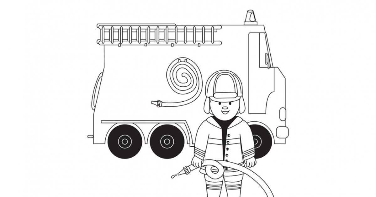 Dessin D'Un Camion De Pompiers tout Dessin D Un Camion