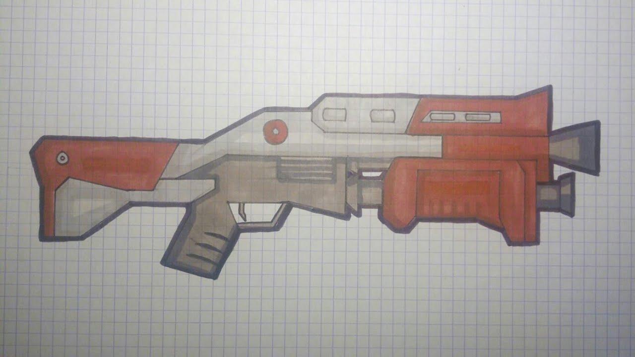 Dessin Fortnite Arme Facile Pixel serapportantà Comment Dessiner Un Fusil