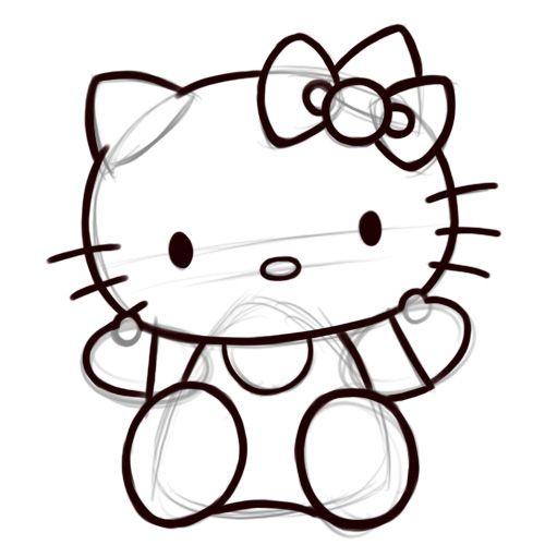 Dessiner Hello Kitty | Anniversaire D'Hello Kitty, Papier serapportantà Hello Kitty À Dessiner