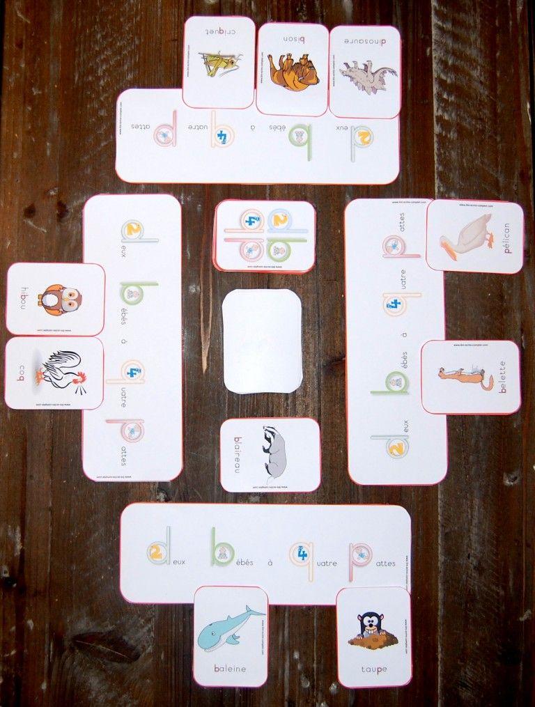 Deux Bébés À Quatre Pattes | Apprentissage De La Lecture encequiconcerne Jeux De Carte A Quatre