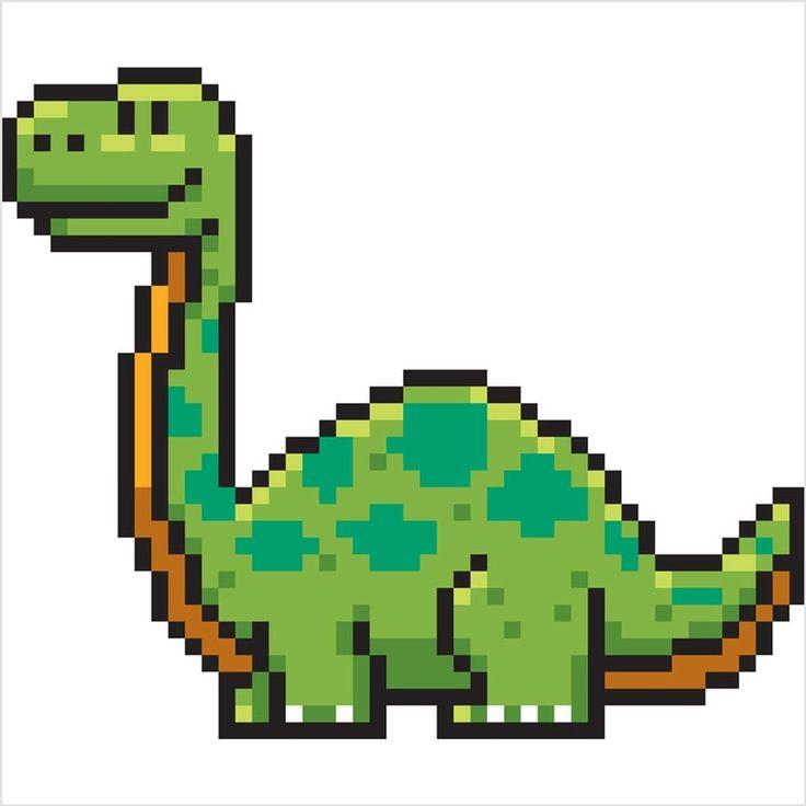 Diplodocus, Dinosaure En Pixel Art   Pixel Art, Pixel Art à Pixel Art Requin