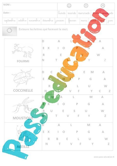Discrimination Visuelle - Lecture - Maternelle - Grande à Exercice De Lecture Maternelle Grande Section