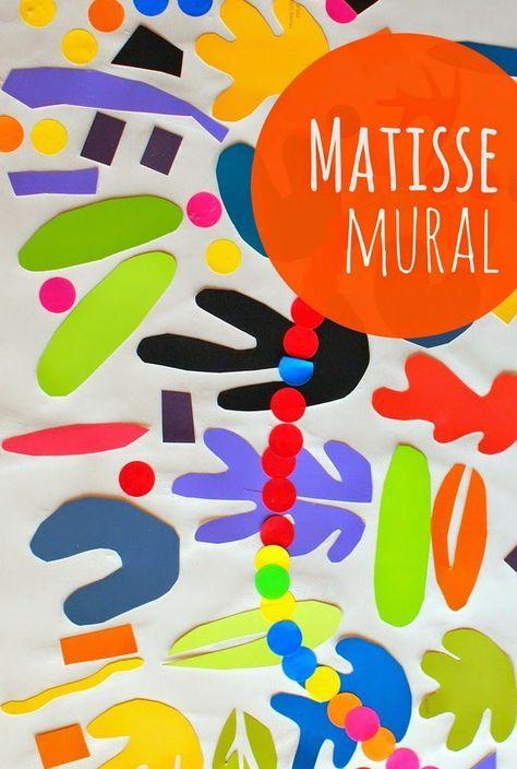 Diy : 3 Découpages Comme Matisse   Art De Matisse, Art dedans Decoupage Pour Enfant