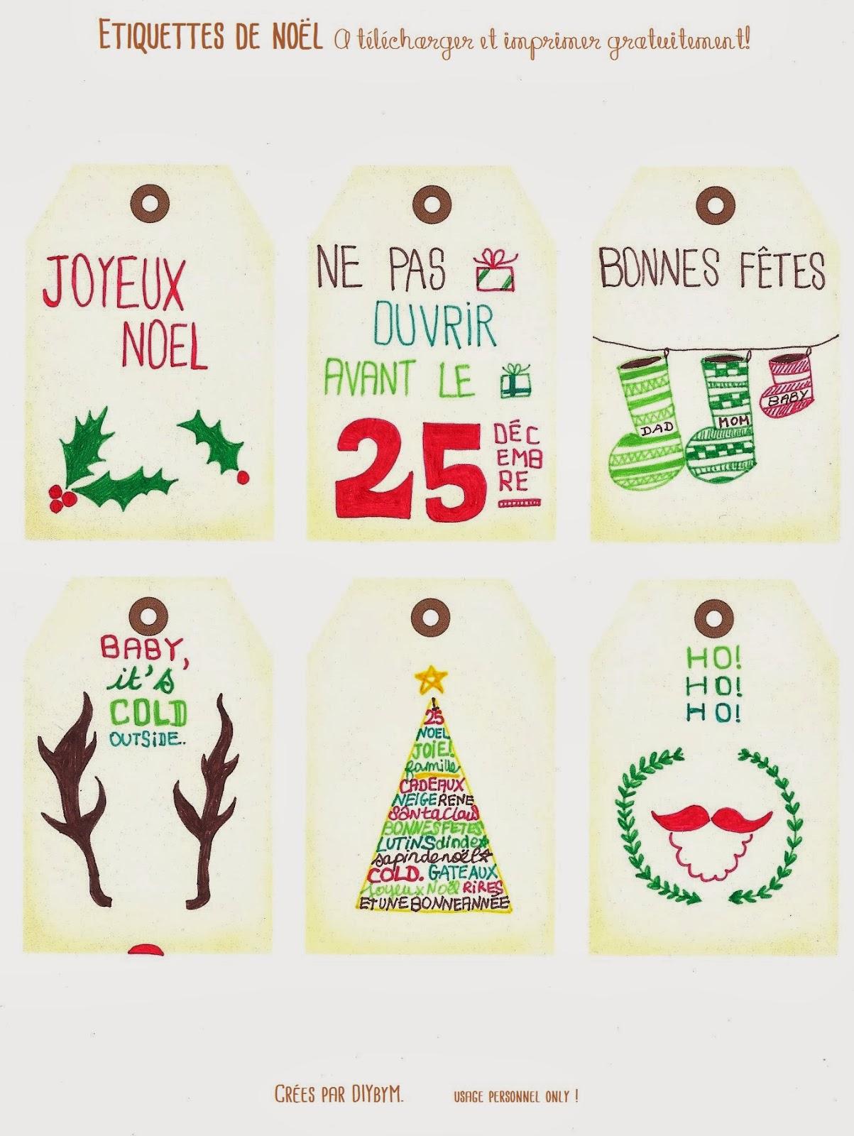 Diy By M.: Etiquettes De Noël #Free Printable serapportantà Etiquette Noel À Imprimer