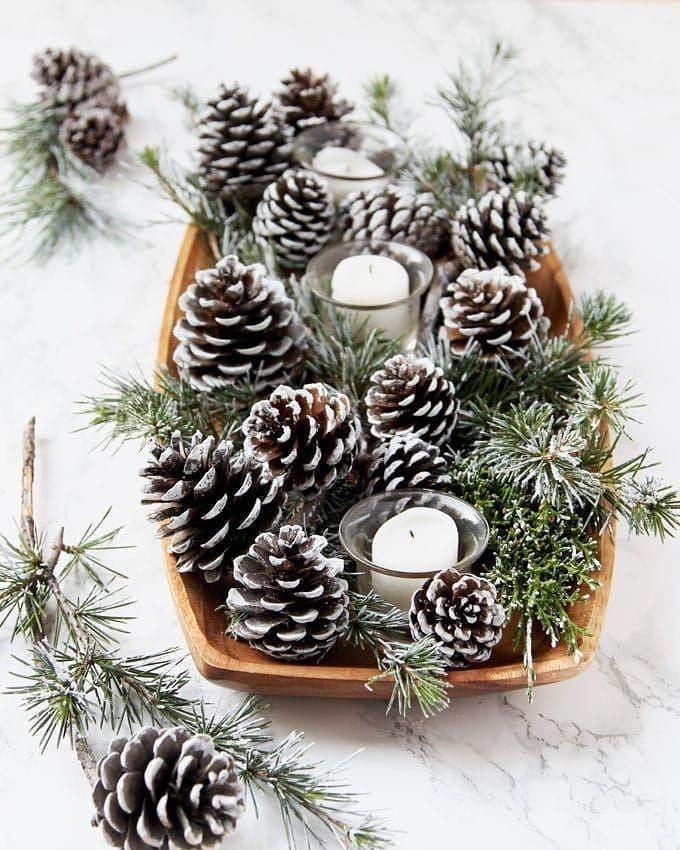 Diy Noël Pomme De Pin Pour Une Déco Nature À Fabriquer encequiconcerne Idee De Noel A Fabriquer
