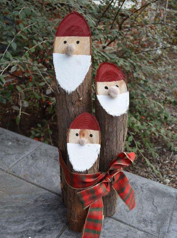 Diy : Pour Une Décoration De Noël À L'Aide De Rondins De tout Fabriquer Un Renne De Noel Exterieur