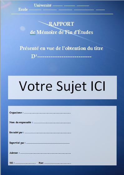 [Docx] Modèle Page De Garde Pour Un Rapport De Pfe encequiconcerne Modèle Page De Garde Word