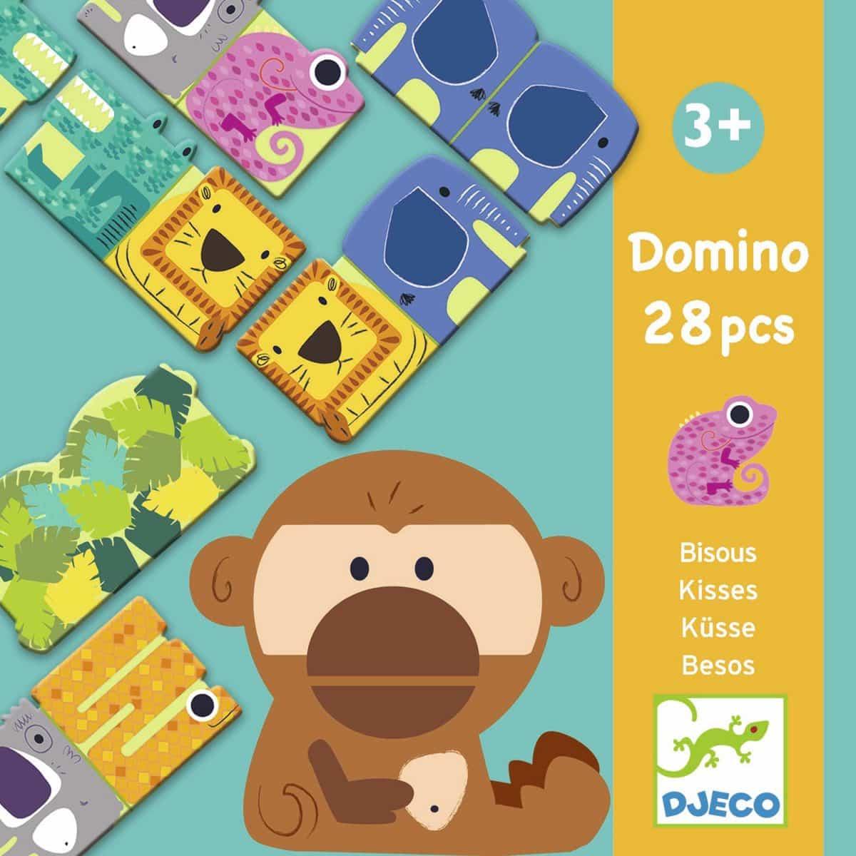 Domino Bisous - Jeu De 28 Dominos Géants D'Animaux Pour à Jeux Domino Gratuit En Ligne