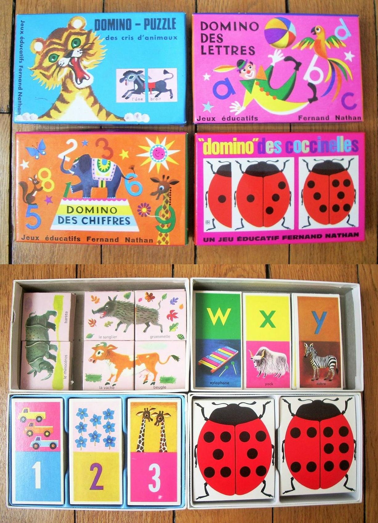Dominos Éducatifs Fernand Nathan - Années 70 - Urbanbroc avec Domino Des Lettres