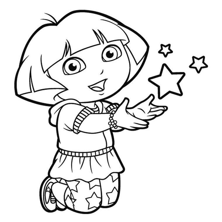 Dora Princess Coloring Pages - Coloring Home serapportantà Coloriage Dora Princesse