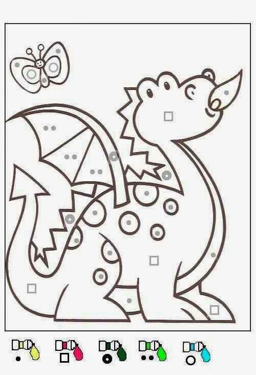 Dragon Coloriages Magiques Maternelle Cute   Coloriage avec Coloriage Magique Maternelle Moyenne Section