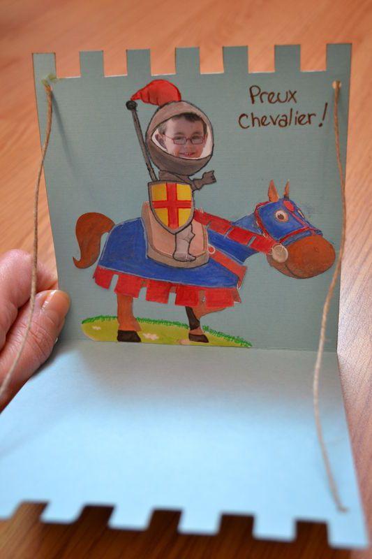 Dsc_0436 | Carte Anniversaire, Activité Manuelle Chevalier concernant Comptine Moyen Age