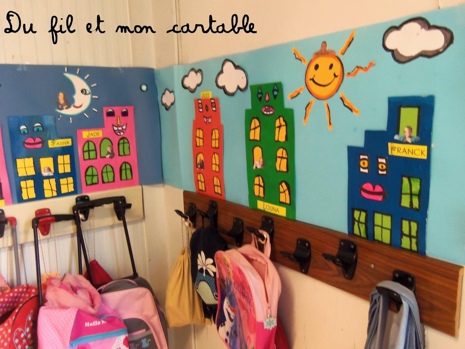 Du Fil Et Mon Cartable : Décoration Porte-Manteaux : James avec Décoration Porte Manteau Maternelle
