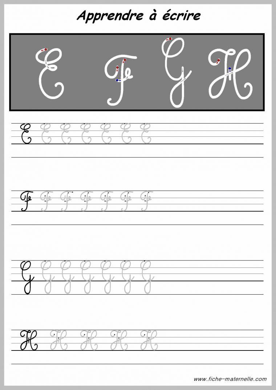 Écrire L'Alphabet: Apprendre À Écrire La Lettre T En intérieur T Majuscule En Cursive
