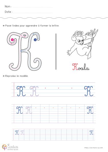 Écrire L'Alphabet Majuscule Cursive Cp Ce1   Écriture destiné Ecrire L Alphabet