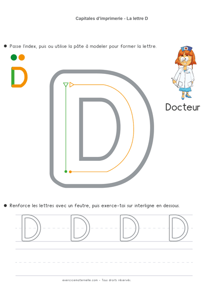 Écrire Les Lettres En Capitales Ms   Écriture Maternelle À dedans Apprendre À Écrire Les Lettres En Maternelle