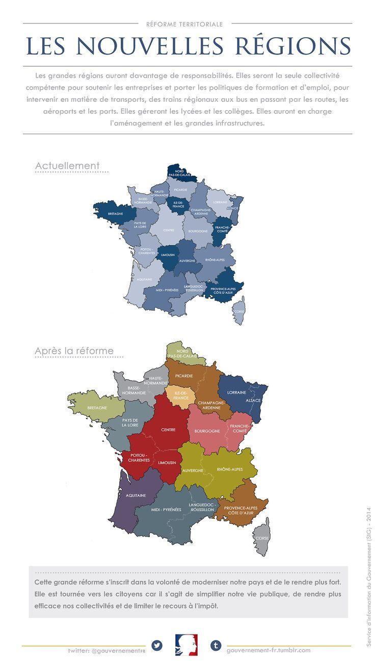 Educational Infographic : La Nouvelle Carte Des Régions De encequiconcerne Nouvelle Carte Des Régions De France