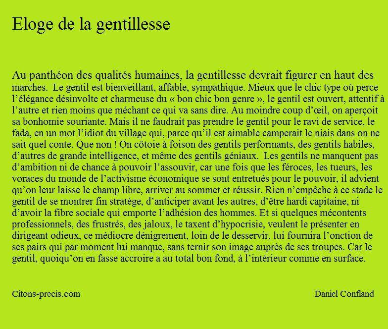 Eloge De La Gentillesse, En Un Texte Et 15 Citations pour Texte Gentil