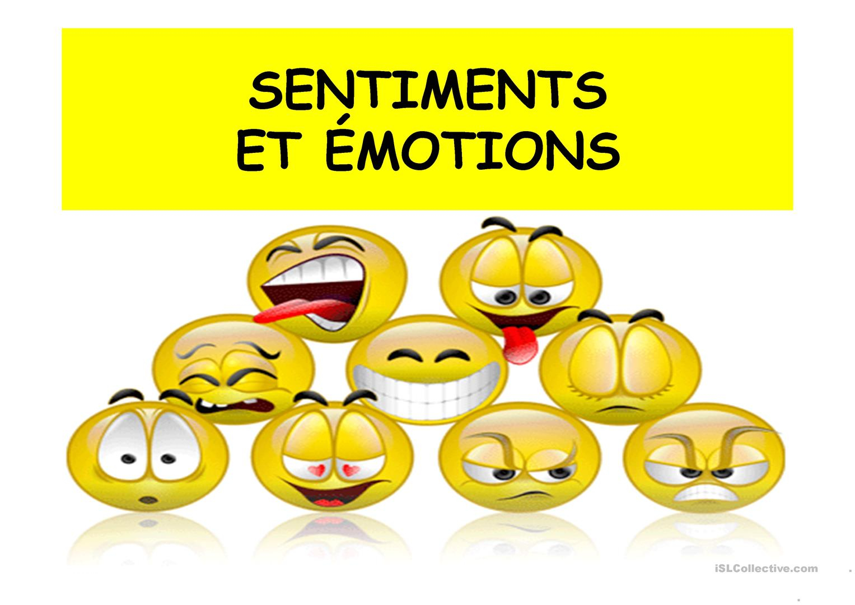 Émotions Et Sentiments Fiche D'Exercices - Free Esl serapportantà Émotion Sentiment