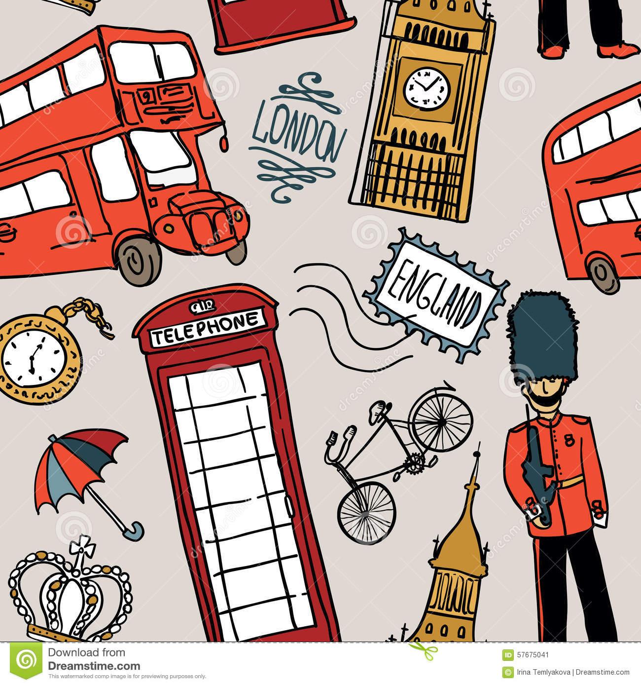English Background Stock Vector. Illustration Of London à Page De Garde En Anglais