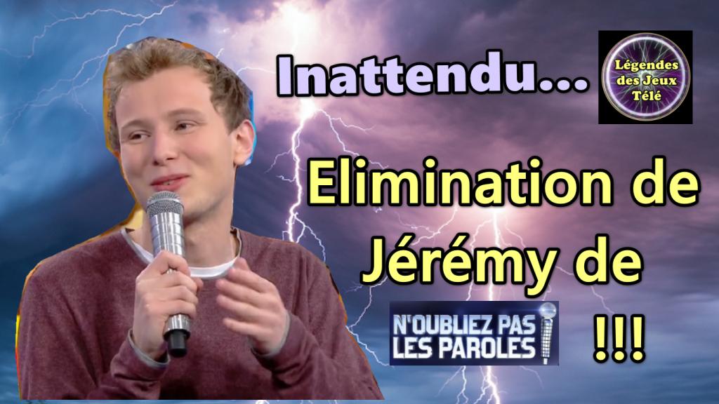 """Enorme Surprise : Coup De Tonnerre 🌩Pour Jérémy De """"N serapportantà Toutes Les Chances Du Monde Paroles"""