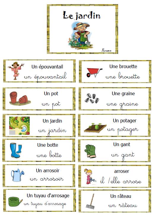 Épinglé Par Christine H Sur Jardin À L Ecole | Jardinage serapportantà Vocabulaire Gs
