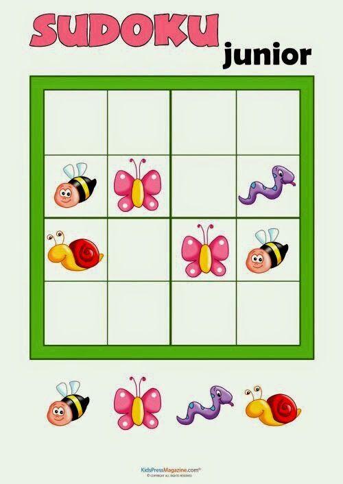 Épinglé Par Gigi Sur Sudoku (Avec Images) | Sudoku Enfant dedans Jeux De Logique Enfant