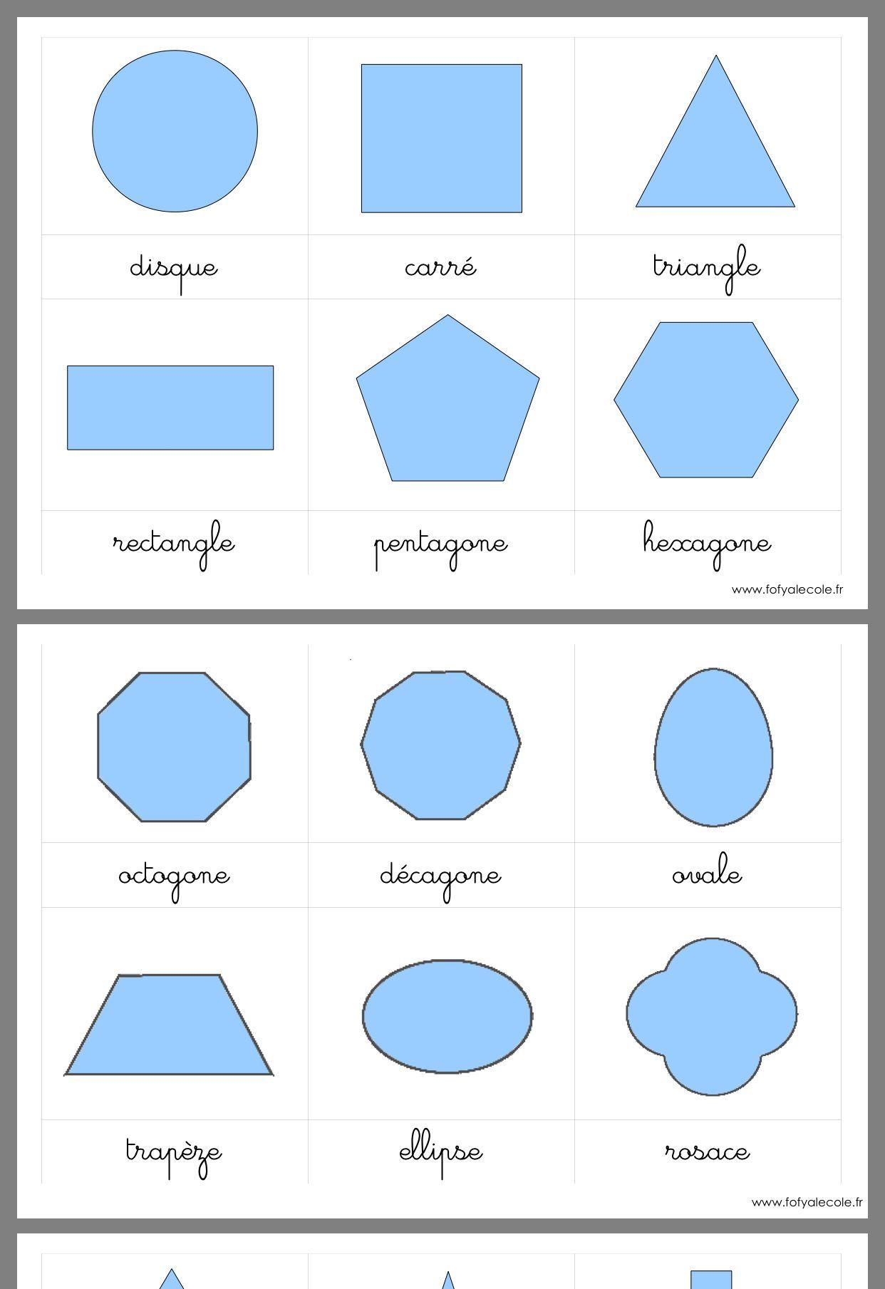 Épinglé Par Khalil Soukaina Sur Éducation | Formes destiné Regle Forme Geometrique