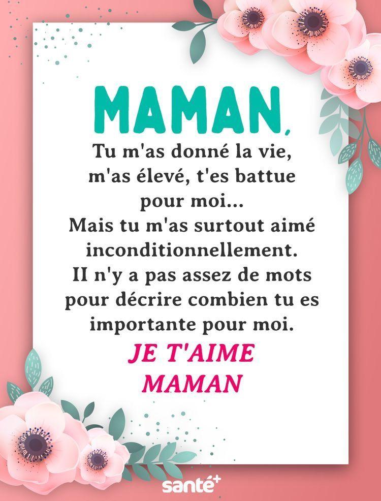 Épinglé Par Lila Sur Maman   Citation Fête Des Mères à Poeme Belle Mere