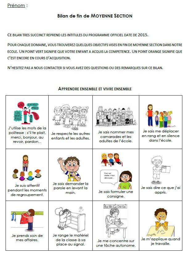 Épinglé Par Valérie Sur En Classe: Progressions dedans Progression Maternelle Eduscol