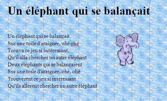 Épinglé Sur Chansons Enfantines concernant Petit Éléphant Chanson