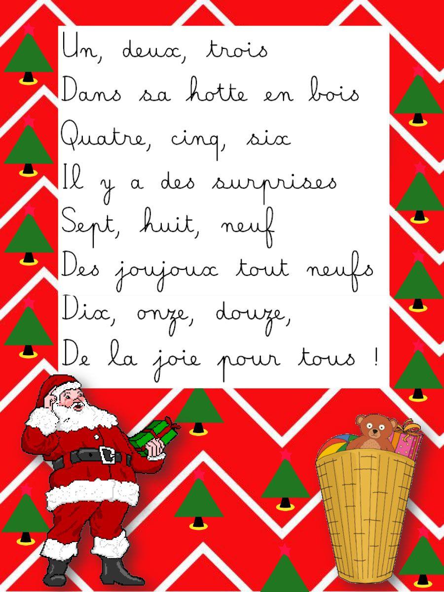 Épinglé Sur Comptines encequiconcerne Le Père Noël Est Enrhumé Paroles