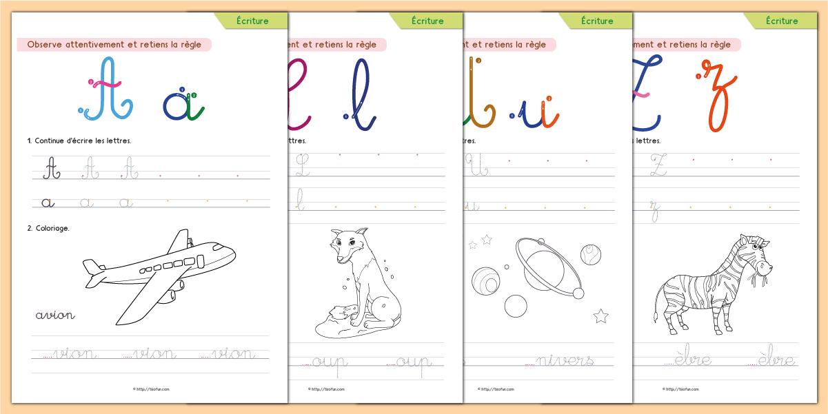 Épinglé Sur Ecrire avec Apprendre À Écrire L Alphabet En Maternelle