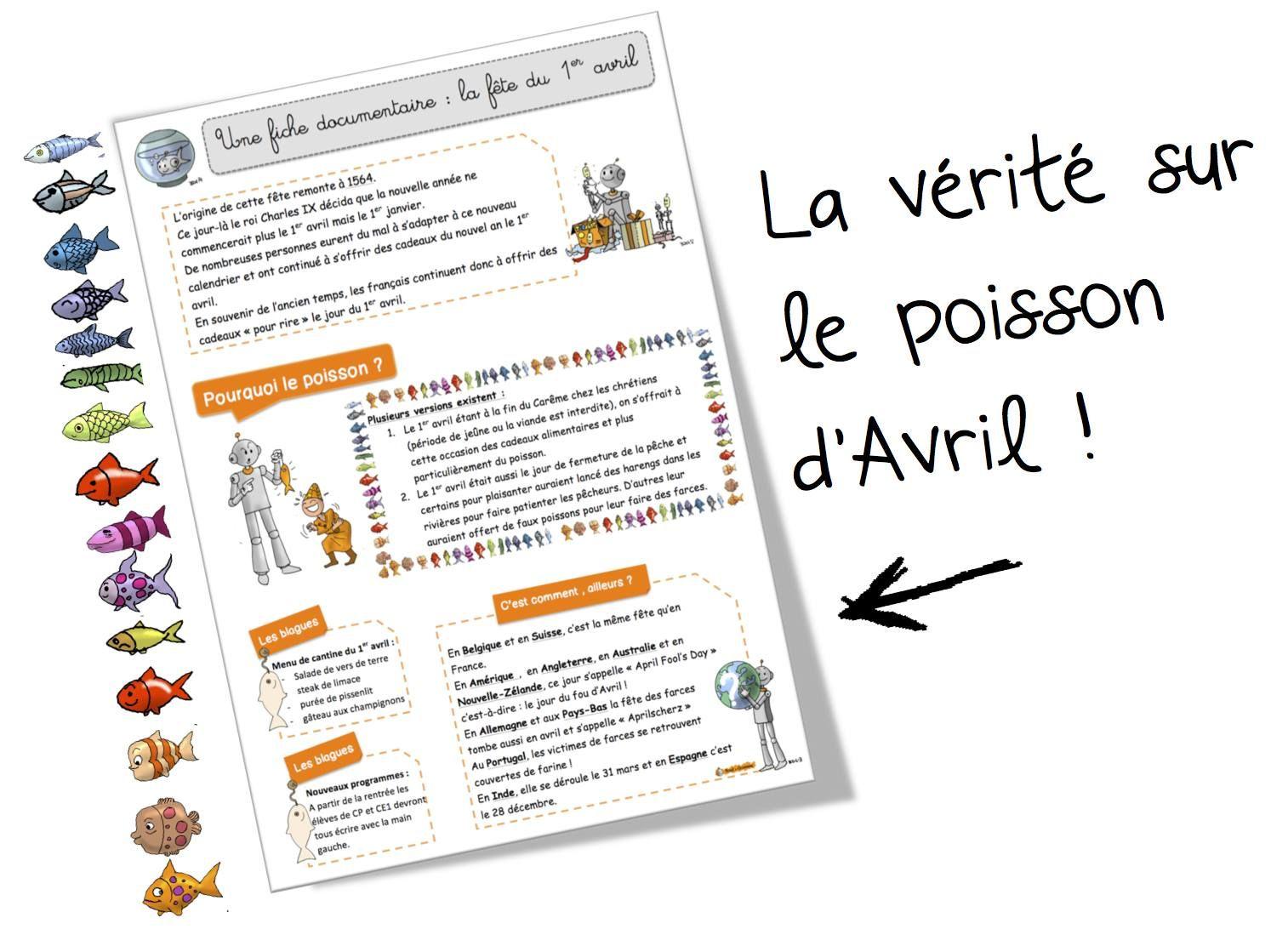 Épinglé Sur French Learning destiné Poisson D Avril Pour Prof