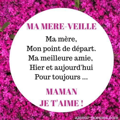 Épinglé Sur Maman tout Jolie Poeme Pour Maman