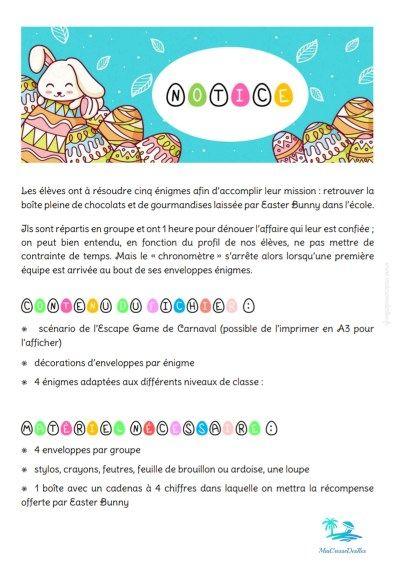 Escape Game De Pâques (Met Afbeeldingen) serapportantà Jeux De Pâques