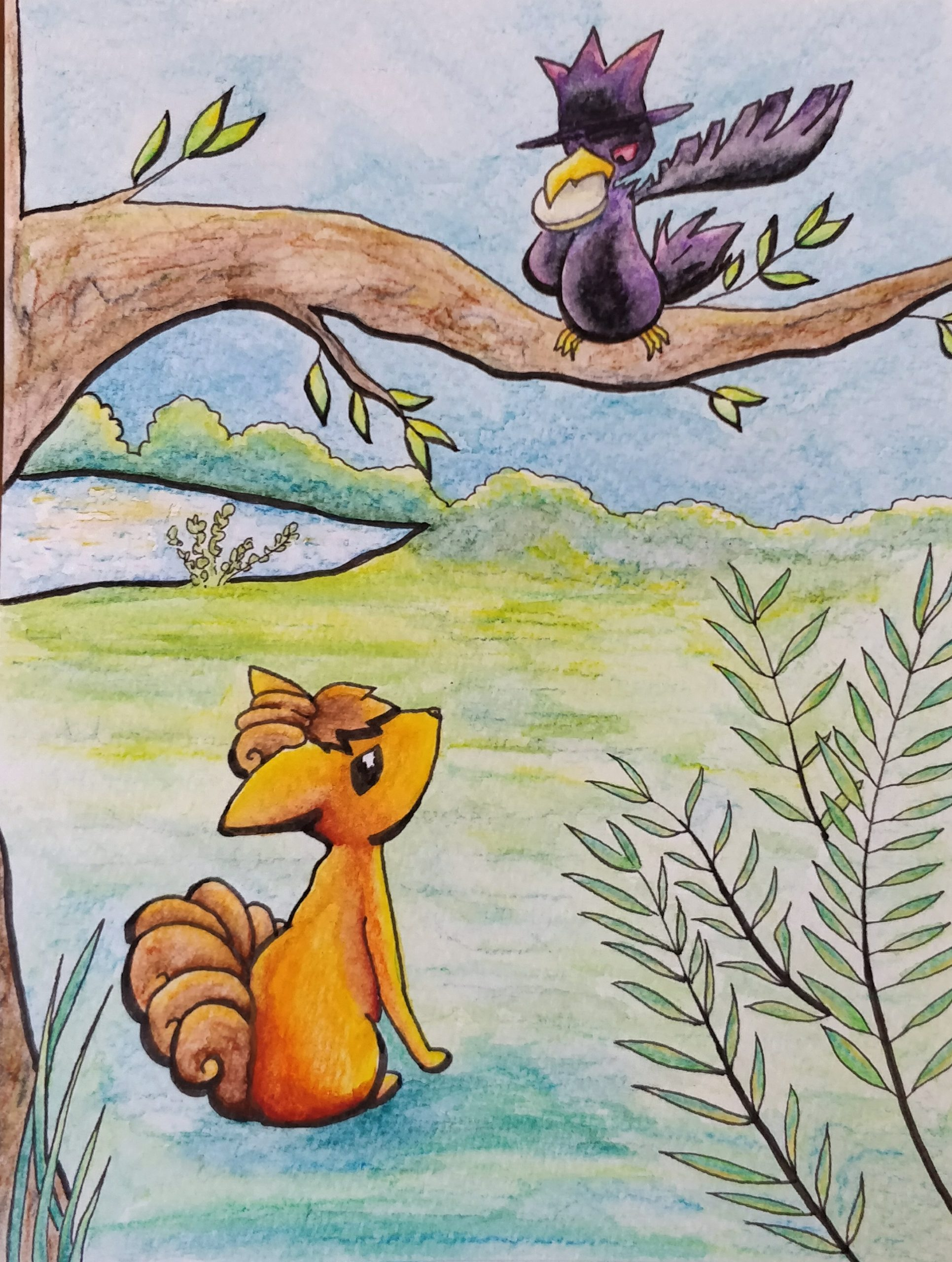 Espace Membre > Création : Le Corbeau Et Le Renard à Illustration Le Corbeau Et Le Renard