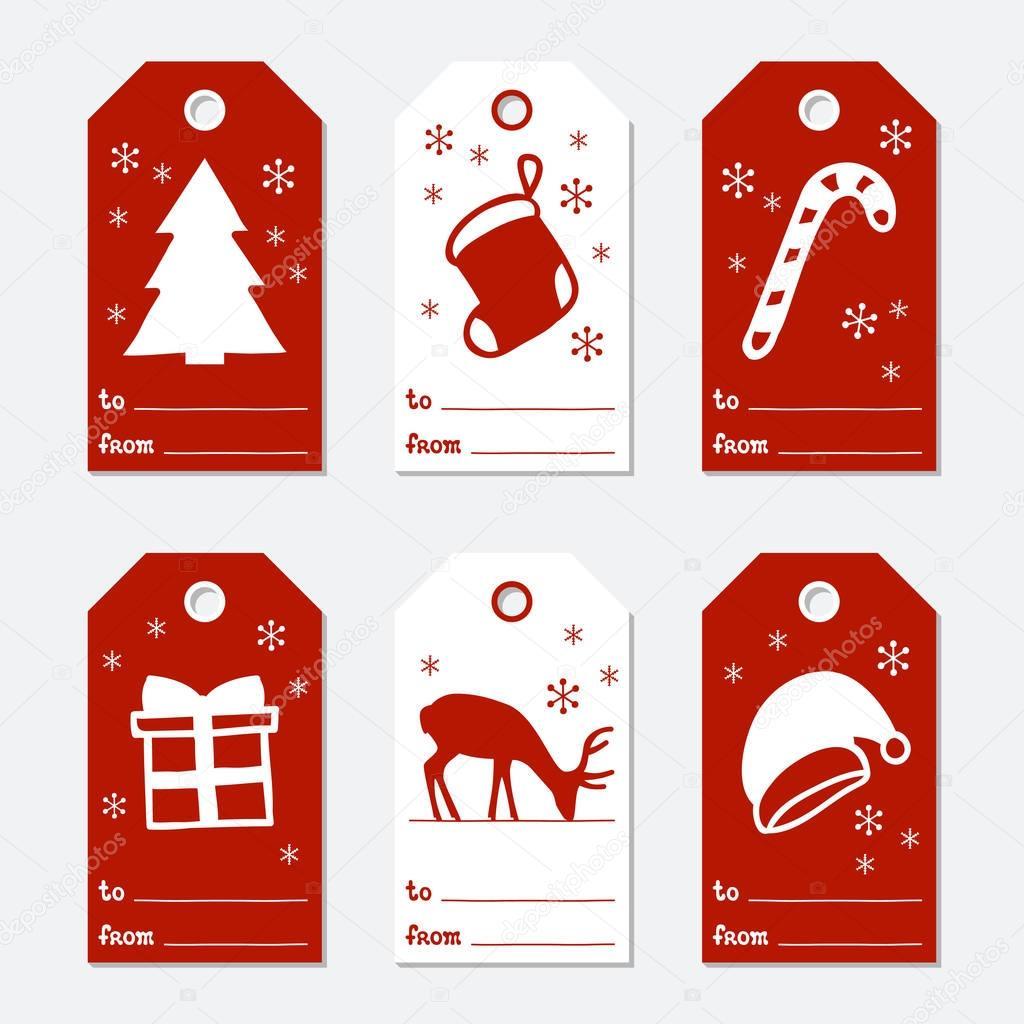 Etiquettes De Cadeaux De Noël Et Du Nouvel An. Cartes Noël tout Etiquette Pour Cadeau De Noel
